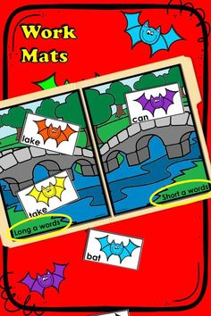 This phonics sorting activity is an ideal, interactive literacy center for kindergarten, first, & second grade students. Promote phonemic awareness with this bat themed extension for Stellaluna, by J. Cannon. This literacy activity gives practice with the long and short sounds of /a/. [vowel sounds 1st grade phonemic awareness 2nd grade activities literacy center kindergarten phonics sorting activity teaching phonics] Kindergarten Phonics, Kindergarten Centers, Teaching Phonics, Literacy Centers, 2nd Grade Activities, Sorting Activities, Classroom Activities, Stellaluna, Common Core Reading