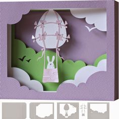 DIGITAL ART by Daniela Angelova: 5x7 easter shadow box card TUTORIAL