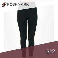 NWT Plus Size Black High Waisted Leggings NWT Plus Size Black High Waisted Leggings  One Size fits most stretchy leggings Rayon, cotton & spandex blend Leggings Pants Leggings