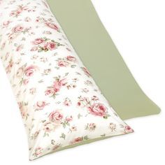 Shop Sweet JoJo Designs Riley's Roses Full-length Reversable Double Zippered Body Pillow Case Cover - Overstock - 7576793 100 Cotton Sheets, Cotton Sheet Sets, Bed Sheet Sets, Body Pillow Covers, Pillow Cases, Best Bed Sheets, Pillowcases & Shams, Bedding Basics, Bed Design