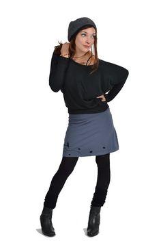3 Elfen Women's Skirt Black Wind Fairy S Asphalt