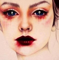 this is a sad painting but it is beautiful at the same time..
