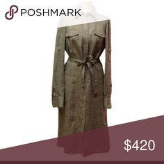 Loro Piana LINEN SHIRT DRESS! Loro Piana LINEN SHIRT DRESS! This shirt dress is made from high quality canvas! It closes in the front with fine buttons.  A belt at the waist gives shape. In Excellent condition. Ready to wear. Firm Loro Piana Dresses