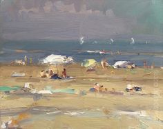 New Blog Post: http://rosepleinair.com/seascape-plein-air-white-parasol/ Seascape Plein air: White Parasol Those white parasols work so well. Since a few years now I'm always looking for these. Here a thick atmosphere, dark sky and dark sea. A few boats in the distance, summer beach. These subjects I think are also best paintedatthe scene, plein air. S... View More at: http://rosepleinair.com #FiguresBeach, #Paintingseascapes, #Roosschuring, #Seascape, #SeascapePlei
