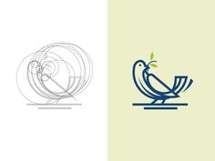 Bird logo design with golden ratio grids.  Grids and animal logos | 02: https://www.behance.net/gallery/52457649/Grids-and-Animal-Logos-02  Website: www.dainogo.net  Thanks for watching, please fol...