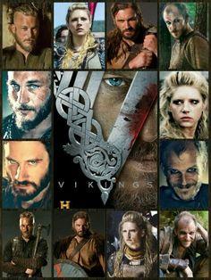 ~ † Vikings Season 1 & 2 † Ragnar †  Lagertha † Rollo † Floki ~