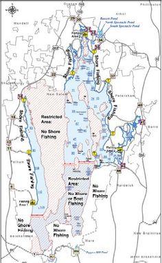 Quabbin Reservoir fishing map & facts!