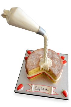 Sally 4 Cakes gravity cake http://rosemaryandporkbelly.co.uk/features/sally-laker-and-her-not-so-ordinary-cakes/