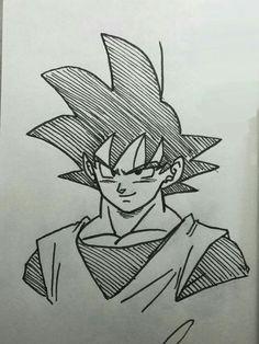 Goku dibujo boceto - #boceto #dibujo #Goku Marvel Drawings, Anime Drawings Sketches, Cool Art Drawings, Anime Sketch, Cartoon Drawings, Goku Drawing, Anime Character Drawing, Dragon Ball Z, Manga Girl