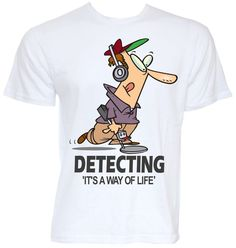 MENS FUNNY COOL NOVELTY METAL DETECTING T-SHIRT DETECTOR HOBBY GIFTS TOOLS FINDS HUSBAND SON DAD BIRTHDAY CHRISTMAS PRESENTS TREASURE FIND