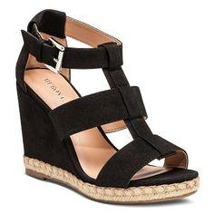 5fc76d562791b Women s Faren Espadrille Sandals - Merona™ Black Wedge Sandals