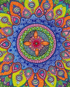Mardi Gras Mandala Canvas Print