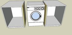 Ikea cabinets washer dryer