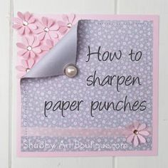 How to Sharpen Paper