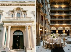 George Peabody Library Wedding  ||  Isabelle Selby Photography  ||  Charm City Wed  ||  www.charmcitywed.com Historic Baltimore Maryland Wedding Venue Library Reception
