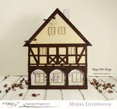 Magic Attic Design: Handmde photoalbum by Maria Lillepruun #Wycinanka