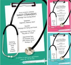 nurse practitioner grad party   Graduation Nursing School Invitation / A perfect invitation for a ...