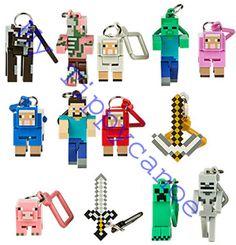 MINECRAFT HANGER Poseable Figure Backpack Keychain Clip Hangers SERIES 1