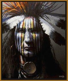 Guardian by Robert Osterloh kp Native American Face Paint, Native American Actors, Native American Warrior, Native American Pictures, Native American Symbols, Native American Quotes, American Indian Art, Native American History, Native American Indians