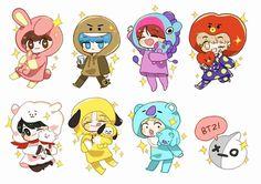 Read 03 from the story BTS Fan art by (♔Alexis♚) with 235 reads. Bts Chibi, Anime Chibi, Kpop Drawings, Kawaii Drawings, Bts Manga, Fanart Bts, K Wallpaper, Bts Lockscreen, I Love Bts
