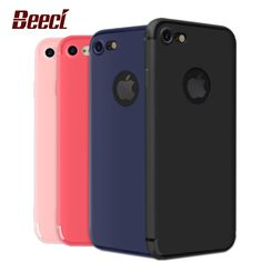 Beeci For iPhone 7 Case Candy Color Coque Soft Matte TPU Cover Shell For Apple iPhone7 7 6 6s Plus 7Plus 6Plus Cases GB01