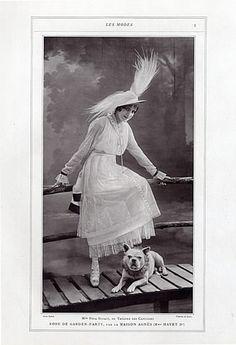 Agnès Madame Havet 1914 Pepa Bonafé, Fashion Photography, Talbot, French Bulldog by Talbot | Hprints.com
