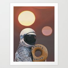 Twin Suns and Donuts Art Print by Scott Listfield - $25.00