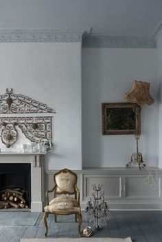 Wevet, (Farrow and Ball) is a delicate, soft gray