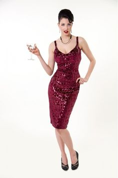 The Diva Dress - Tatyana | Although I think I want the black one first, the burgundy is beautiful!