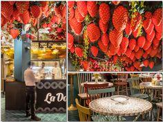 Un espectacular techo de frutas y flores en la nueva zona de postres de Tickets, de Ferran Adrià