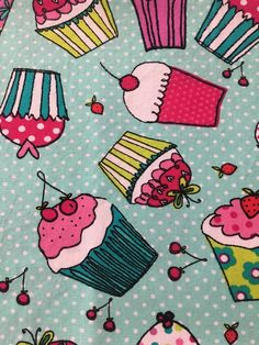 Excited to share the latest addition to my #etsy shop: Cupcakes on Teal/BlueGreen Background (4) Cloth/Fabric Dinner Napkins http://etsy.me/2tuvsyx #housewares #pink #square #cotton #cupcakes #cake #party #birthdayparty #graduationparty