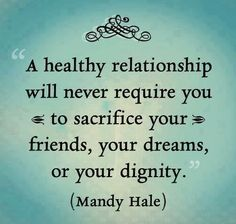 Everyone deserves and is worthy of a healthy and happy relationship. Put God in the equation and He can mend, heal and restore all that was there that made anything in the relationship unhealthy! Seek God first and His righteousness  and all these things shall be added unto you!