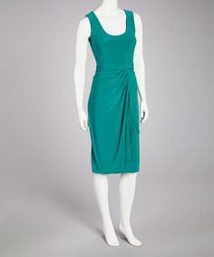 Take a look at this Jade Gathered Waist Dress - Women by Quiz on #zulily today!