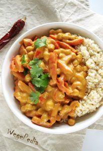 Curry z ciecierzycą i papryką - fit, bez mleka kokosowego Veg Recipes, Asian Recipes, Vegetarian Recipes, Cooking Recipes, Healthy Recipes, Eat Happy, Vegan Dinners, Pasta, Food Inspiration