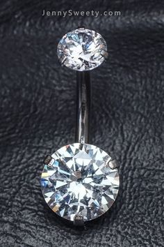 Double Clear Zircon Belly Button Ring Belly Button Piercing flower Belly Rings Navel Rings
