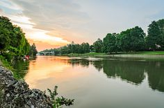 Photograph Turin (Torino), river Po and hills at sunrise by Marco S on 500px