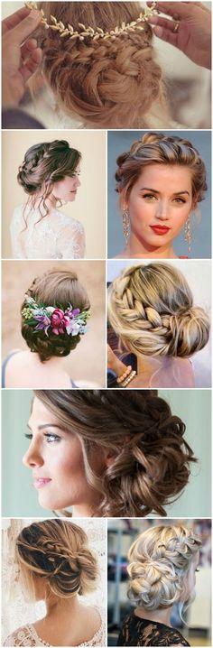 recogidos para bodas con trenzas #hairstylesrecogido