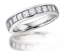 Anniversary Ring: 1/2 Carat (ctw) in 14K White Gold Diamond Wedding Band