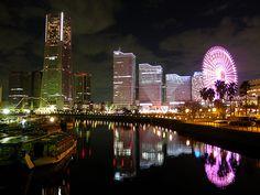 yokohama night scenery