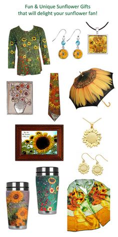Fun & Unique Sunflower Gifts that will delight your sunflower fans! Free Shipping Everyday on all sunflower and art gifts!