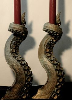 Tentacle candlestick holders