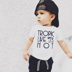 this print is one of the best I've ever seen | Tropic Like It's Hot | summer vibes | favorite | toddler boy's outfit