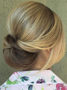 soft up-swept updo wedding hairstyle idea