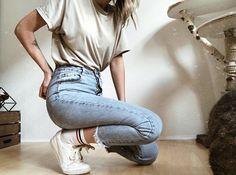 DIY high waisted pants, high waist jeans outfits jeans high waisted, high waisted outfits high waist outfit jeans, high waisted mom jeans high waisted jeans outfit casual, high waisted skinny jeans outfit High Wasted Jeans, High Waisted Mom Jeans, Jean Outfits, Casual Outfits, Kylie Jenner, Street Style, Skinny Jeans, Outfit Jeans, Pants