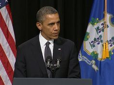 Obama reassures #Newtown 'you are not alone' at vigil for victims of Connecticut school shootings (Photo: Pool via NBC News)