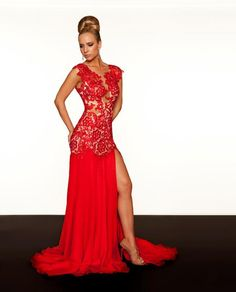 Style: #61041R RED-NUDE (Front)