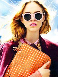 pink, orange, & shades of each #fashion #details
