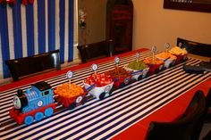 Snack Train for Train Birthday Party