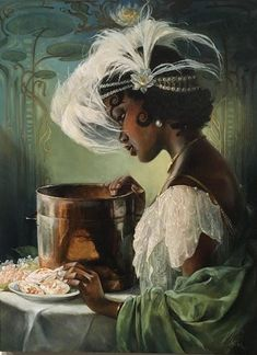 Princess Tiana by Heather Theurer at An Art Tribute to the Disney Films of Ron Clements and John Musker.