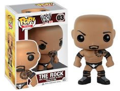 WWE's The Rock has been given the Pop! Vinyl treatment with this WWE The Rock Pop! Vinyl Figure! The blockbuster actor and pro wrestling living legend looks true to form with his black knee and elbow ...